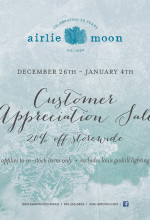 year-end sale at Airlie Moon in Wilmington
